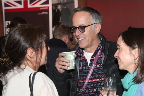 Sundance Film Festival director John Cooper and British Film Commission evp of US production Kattie K at We Are UK Film reception, Sundance 2016otok